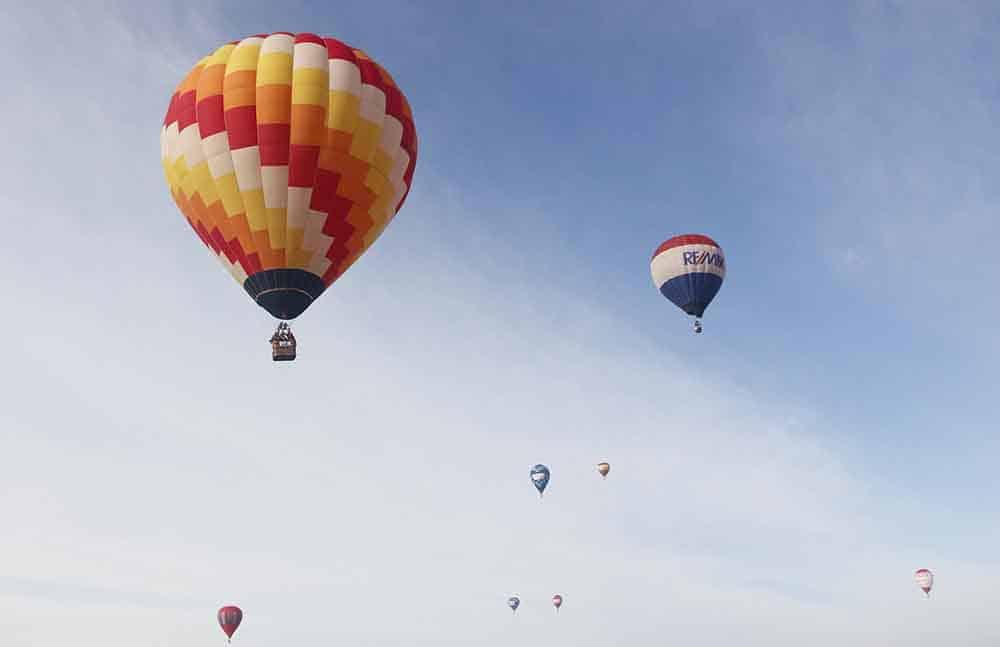 Lugares turísticos no Brasil: Balão em Torres - Rio Grande do Sul